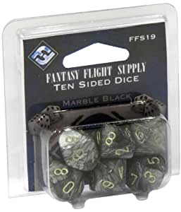 Fantasy Flight Supply: Ten-sided Dice: Black and Red