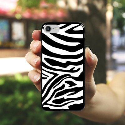 Apple iPhone 6 Plus Silikon Hülle Case Schutzhülle Zebra Animal dschungel Hard Case schwarz