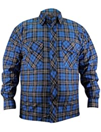 938d36f7ee0c2 Gaffer Para hombre de franela cepillado algodón Casual comprobar camisa de  trabajo de leñador para chicos