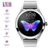 ZY smart watch KW10 Reloj Inteligente para Mujeres, sueño Impermeable y presión Arterial Monitor de calorías/Contador de Pasos, Reloj Deportivo Inteligente para Exteriores con, para Android y iOS