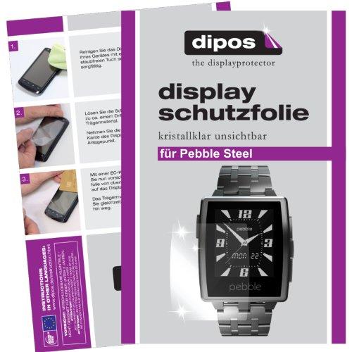 dipos I 2X Schutzfolie klar passend für Pebble Steel Folie Bildschirmschutzfolie