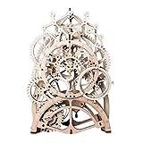 ROKR 3D Holz Puzzle Laser-Cut - Gebäude Uhr Baukasten - Mechanische Modellbau Geschenk für Freund Oder Ehemann am Geburtstag / Jahrestag / Valentinstag / Weihnachten (Pendeluhr)