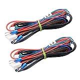 Forrom - Juego de 2 cables para cama de 90 cm, A8, A6, calefactables, para impresora 3D Mendel RepRap i3