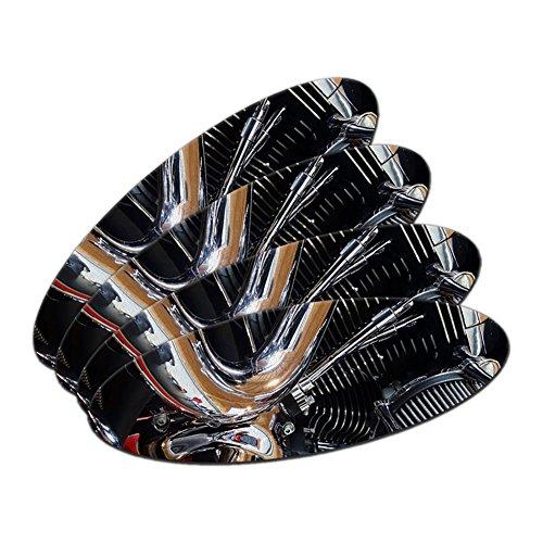 Motorrad Chrom Motor Zylinder Auspuff Oval Nagelfeile Emery Board 4Stück