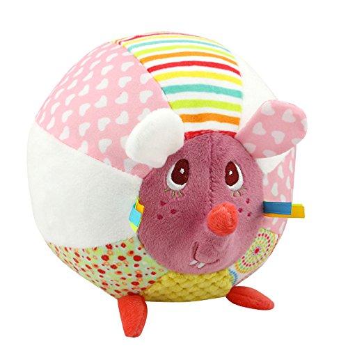 Lytshop Kinderspielzeug Multifunktions-Karikatur-Tierschlag-Ball-Plüsch-Spielzeug (kleine Maus)