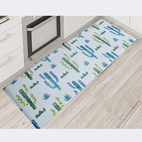 ANXIN Teppich, Küche Schlafzimmer Badezimmer, Wasseraufnahme Rutschfest,E,50 * 80Cm
