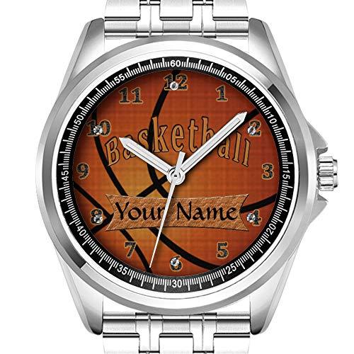 Personalisierte Herrenuhr Mode wasserdicht Uhr Armbanduhr Diamant 165.Basketball Watch Anpassbare Uhren für M?nner -
