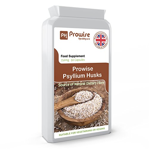 Prowise Flohsamenschalen 750mg x 90 Kapseln - natürliche Ballaststoffe für Darmreinigung & Darm Gesundheit