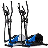 Elliptical Crosstrainer MX400 Nordic Walking Ellipsentrainer belastbar bis 120 kg Pulssensoren Schwungrad 8 kg Silber