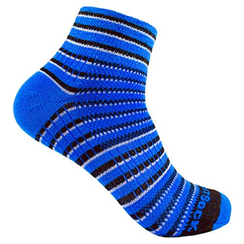 Wrightsock Coolmesh II Quarter Socke Blue Black White 41.5-45 -