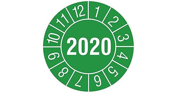 30mm Folie 144 Prüfplaketten grün Jahresprüfplakette 2020 Jahreszahl
