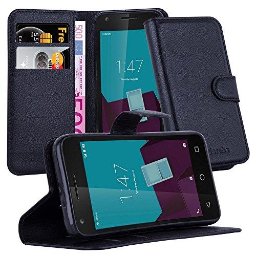 Cadorabo DE-105676 Vodafone Smart Speed 6 Handyhülle mit Kartenfach und Standfunktion Schwarz