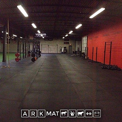 Sonderangebot | 5x Heavy Duty massiv 12mm schwarz Gummi Gymnastikmatte | 6ft x 4ft | 1,82x 1,22m | integrierter verstecktem Griff unter | groß arkmat Bodenbeläge für Garage oder kommerziellen Gym Gebrauch Gymnastikmatte Heavy Duty