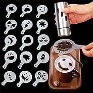 16 Pcs Coffee Decorating Stencils, Foam Latte Art Stencils Barista Template for Decorating Oatmeal Cupcake Cak
