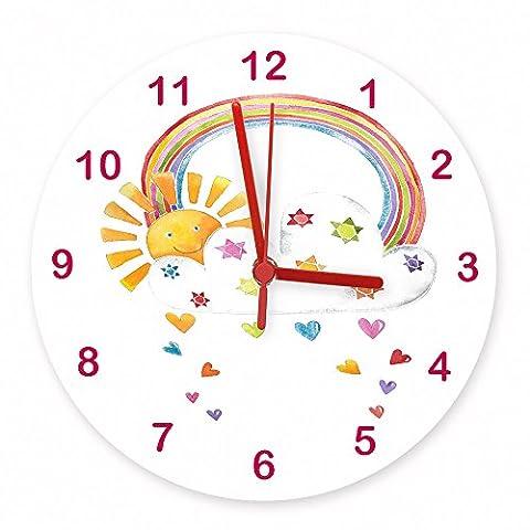 Sunshine Clock, Girls Clock, Girls Gifts, Clocks UK, Children's Clock, Kids Clock, Bedroom Clocks, Pink Clock, Cute