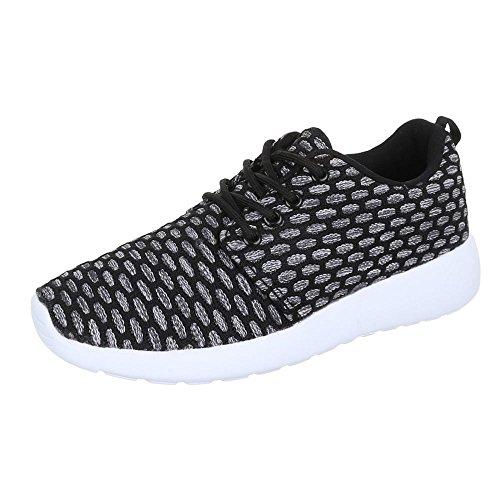 Damen Schuhe Trendige Sportschuhe Freizeitschuhe Schwarz Grau 2