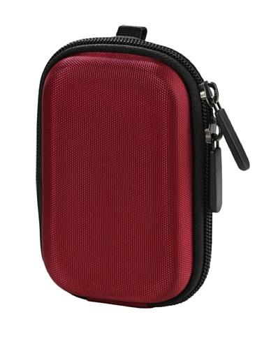 Burgund Metall (Vivanco CC EVA BG EVA Hartschalen Kamera Tasche mit Gürtelschlaufe burgund)