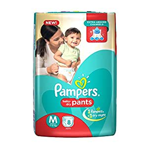 buy pampers medium size diapers pants 8 count online at. Black Bedroom Furniture Sets. Home Design Ideas