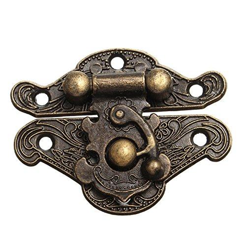 2 Stück Bronze Legierung Vorhängeschloss Schließe Schlösser für Boxen, Truhen, Schatullen S