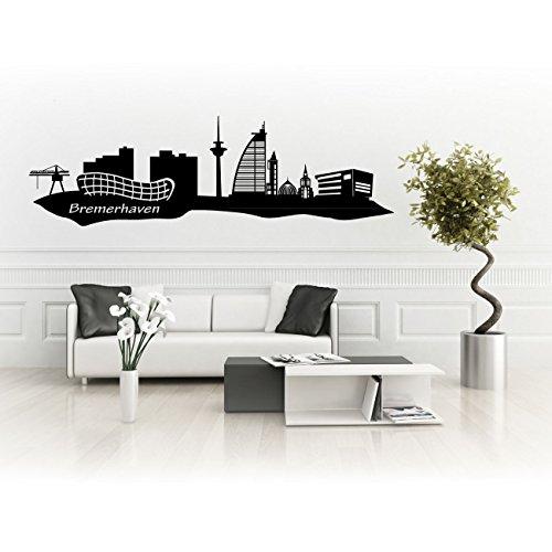Bremerhaven Skyline Aufkleber für Wände oder Auto Silhouette Stadt Sticker | SKD001