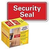 AVERY Zweckform Sicherheitssiegel VOID 7311 Security Seal (leuchtrot, 38 x 20 mm, 200 Stück auf Rolle) im Kartonspender