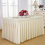 L&Y Tableware Tovaglie da hotel Tavoli da pranzo freddi Tavolini da conferenza rettangolari 120 * 60 * 75CM Tovaglia tovaglia Tovaglia da tavola Copripiumino (Colore : Beige)