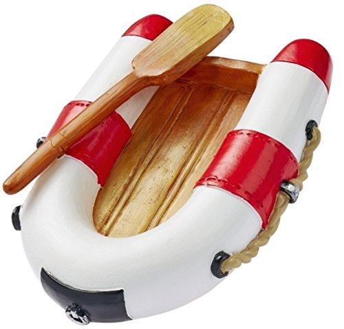 Miniatur Schlauchboot 7 cm rot weiß Figur Deko Urlaub Meer Schiff Strand Ferien Boot