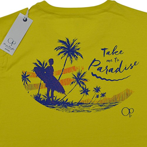 t-shirt-mm-ocean-pacific-california-uomo-100-cotone-giallo-con-stampe-xxl