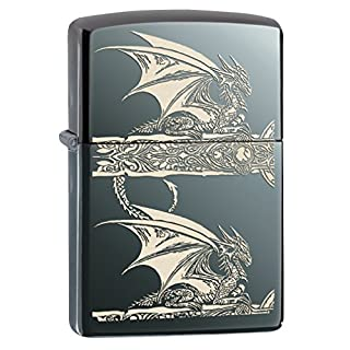 Zippo 15300 Feuerzeug Anne Stokes, Dragon, Choice Collection 2015/2016, schwarz Ice, Laser Engrave