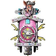 Kult AG Reloj de cartón Mini clásico, Reloj de Cuco Moderno de cartón con función