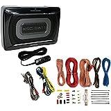 Kenwood ksc-sw11150W perfil bajo caja de subwoofer Amplificador para coche + Amp Kit