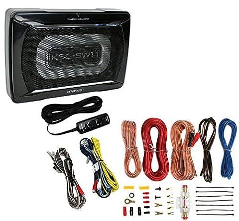Kenwood Ksc-sw11subwoofer voiture 150W à profil bas amplifié de voiture Caisson de basses boîtier + Amp kit