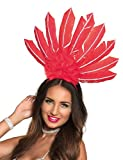 Generique - Brasilianischer-Kopfschmuck für Damen Rot