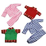KreativeKraft Elf Accessories for Elves Behaving Naughtily Pack of 4 Clothes for Dolls Teddy Clothing Fits a 13-14 cm