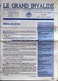 Telecharger Livres GRAND INVALIDE LE No 676 du 01 05 1994 ORGANE DE LA FEDERATION NATIONALE DES PLUS GRANDS INVALIDES DE GUERRE DEFENSE DES DROITS RETRAITE DES ANCIENS COMBATTANTS (PDF,EPUB,MOBI) gratuits en Francaise