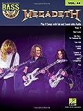 Bass Play Along Volume 33 Megadeth: Noten, CD, Play-Along für Bass-Gitarre (Hal Leonard Bass Play-Along, Band 44)