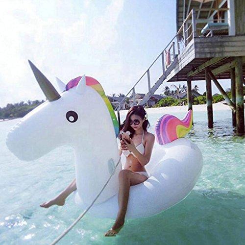 LXIA Dicke aufblasbare schwimmende Reihe von rosa Flamingo schwimmende Bett, große Schwimmbad Erwachsene & Kinder-Spielzeug ( form : Unicorns )