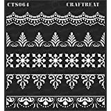 """CrafTreat Stencil - Ornate Borders 