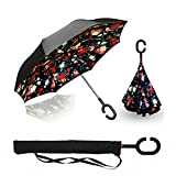 ☂-Queste vetture invertire ombrello è uno strumento necessario per la vostra auto, ed è un regalo creativo per un regalo creativo per i genitori, amici, colleghi, amanti, ecc