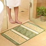 MKSFY Rutschfeste saugfähige Bodenmatte Türstreifen Können maschinengewaschene Teppichmatten für Badezimmer Küche Studie Schlafzimmer Korridor Eingangstür Wohnzimmer Gras Grün, Zweiteilig Sein