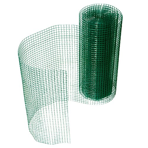 casa pura® Drahtgitter grün | 4-Eck-Geflecht Volierendraht, mit PVC-Beschichtung | verschiedene Größen, 100cmx10m