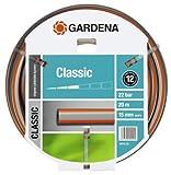 GARDENA G18013-26 Classic Ø 15 mm Rollo de 20 m Manguera, Standard