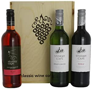 Stormy Cape Rose, Pinot Grigio and Shiraz Wine Set 75 cl (Case of 3)