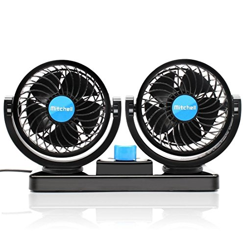 Suparee Ventilador eléctrico de coche - 360 ° doble culata giratoria 2...