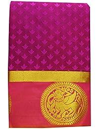 Saravanabava Silks - Kanchipuram Silks Sarees (Kanchi Art Pattu Empossd Rich Pallu SRBS0321)