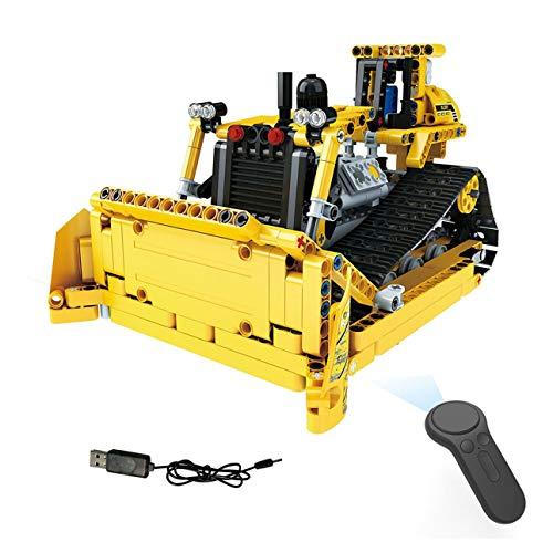 Ballylelly-MoFun-13015 2.4G 4H USB-Ladebaustein simulierte Crawler Bulldozer 512pcs DIY elektrische RC-Auto-Modell für Kinder -