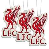 Liverpool FC Lufterfrischer, mit Vereinslogo, offizielles Lizenzprodukt, 3er-Packung