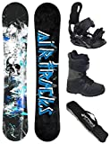 Airtracks Snowboard Set/Board S-Mile Wide Camber 169 + Snowboard Bindung Star + Boots Master QL 46 + Sb Bag