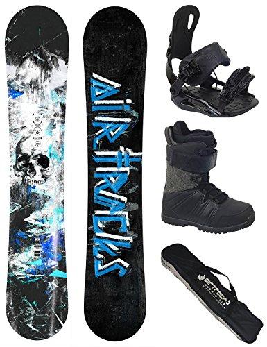 AIRTRACKS Snowboard Set / Board S-Mile Wide Camber 163 + Snowboard Bindung Star + Boots Master QL 40 + Sb Bag