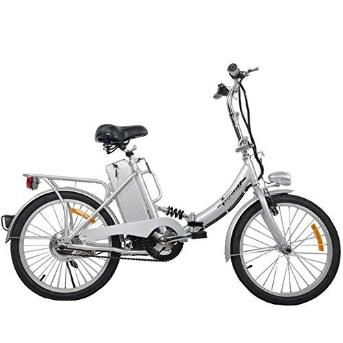 """TOOCO Elektro Klapprad 20"""" (51cm) Pedelec Elektrofahrrad Ebike E-Bike Fahrrad (Silber)"""